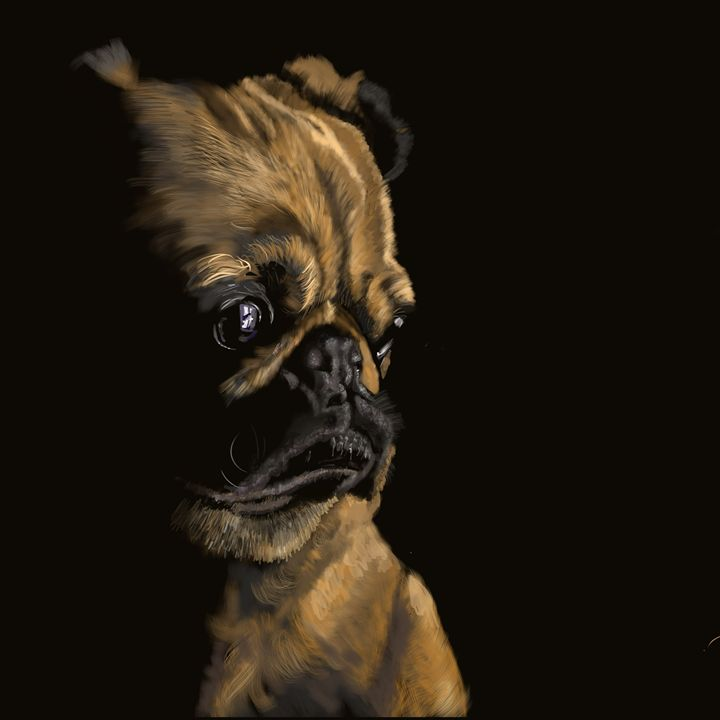 Pug in Thought - Dogone Art