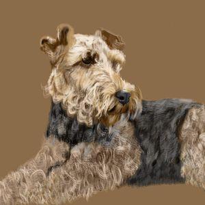 Airedale Terrier - Dogone Art