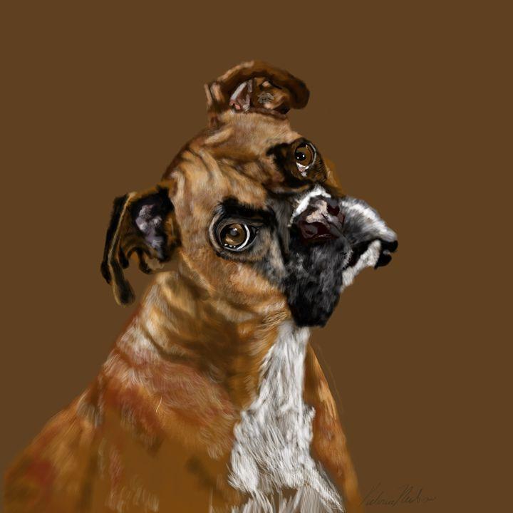 Boxer Portrait - Dogone Art