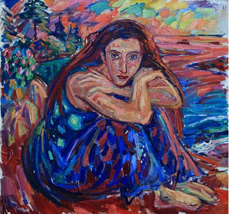 A WOMAN BY THE OCEAN - karabchievsky