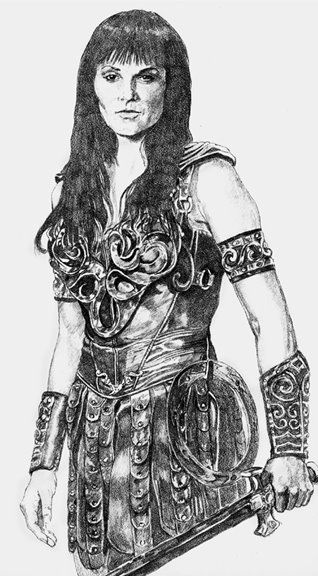 Lucy Lawless as Xena - Karen Charles Stidham