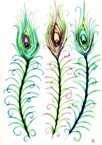 Peacock Feathers - Shelli Shields