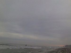 Winter beach time