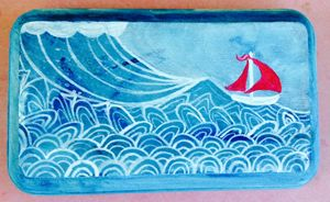 Red Sailboat Whimsy