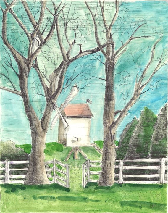 Windmill and Trees - Gabby