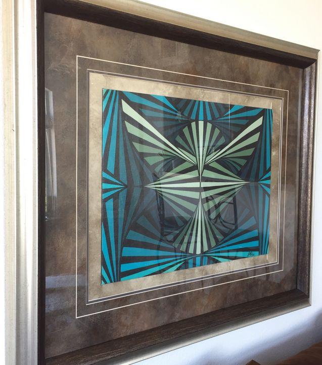 Eagle, Painting Geometric abstract - Jaqueline M. Cruz