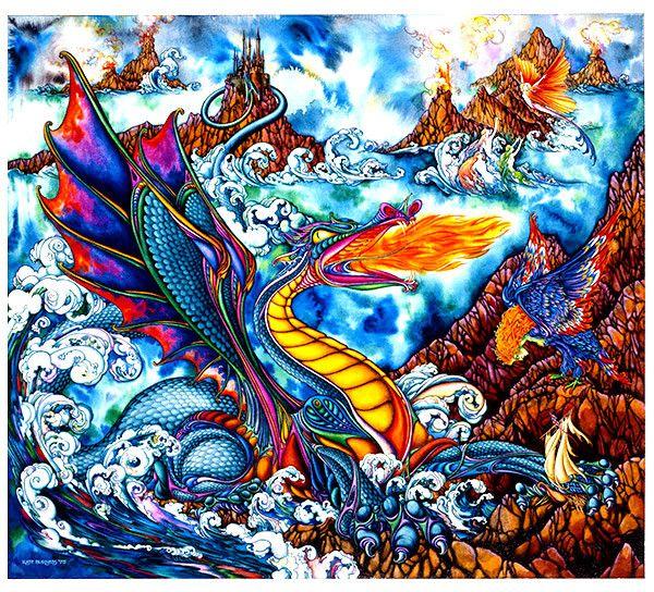 Myths of the Sea - kateburnessart