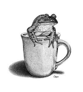 Bullfrog in Cup