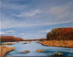 Swamp, oil on canvas