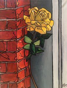 Rose on Brick