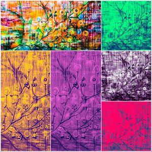 Raining Blossoms Collage