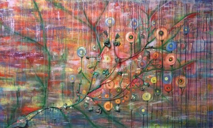 Raining Blossoms - Art By Josie V Toney