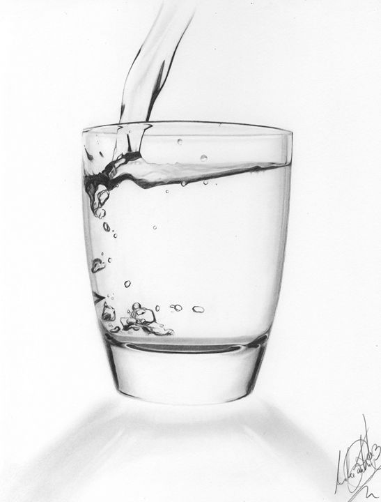 Glass of water - andre Illustration