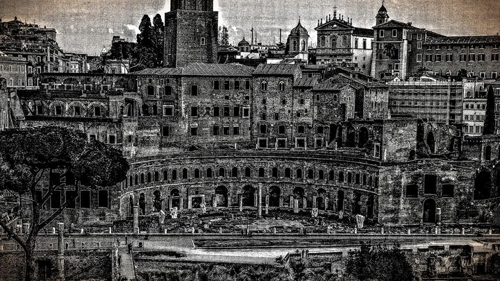 ROME, ITALY - Lady Marie
