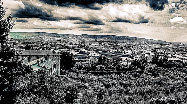 LANDSCAPE OF ASSISSI - Lady Marie