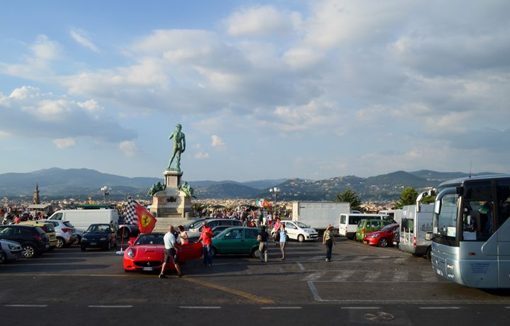Statue Of David Overlooking City - Lady Marie