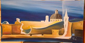 Malties view, oil painting, canvas