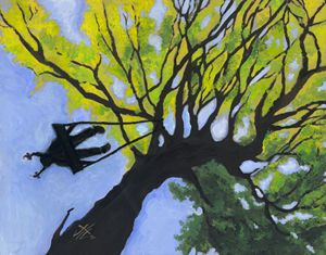 Girl in a Tree Swing