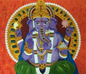 Colourful Ganesha