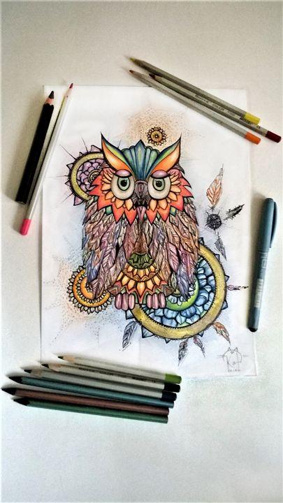 Owl Mood 3 - Kate Turova