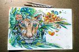 Original Watercolor Drawing