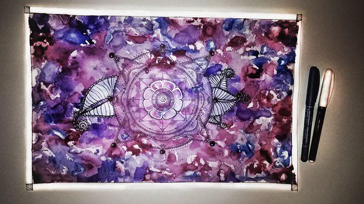 Watercolor Mandala - Kate Turova