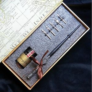 Handcrafted Wooden Carve Dip Pen