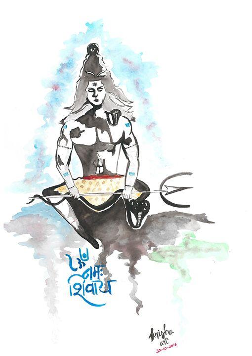 Shiva in trance - SK art