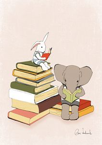 Nursery art print 'Reading is good'