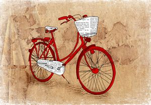Art print ''Red Bike''