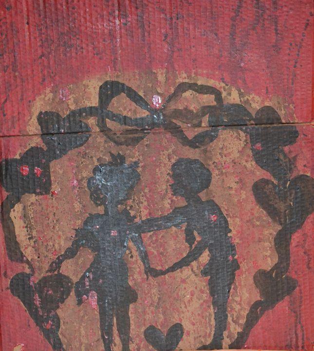 Love Under A Heart Banner - LOVE Art Wonders (NickysArt)