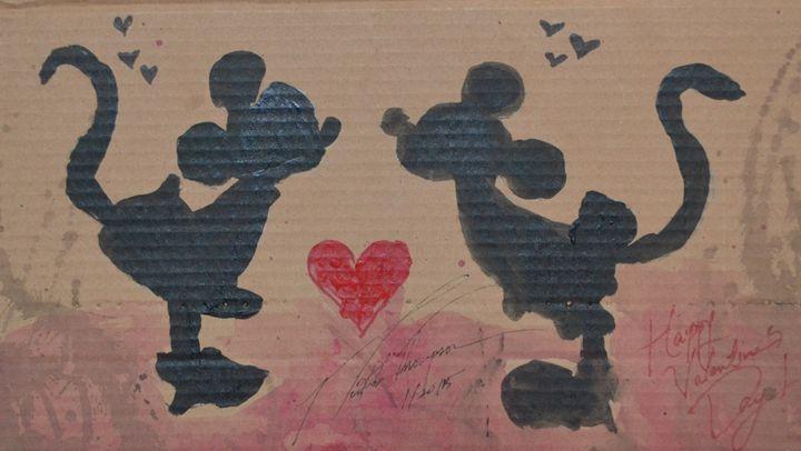 Mickey Mouse Love - LOVE Art Wonders (NickysArt)