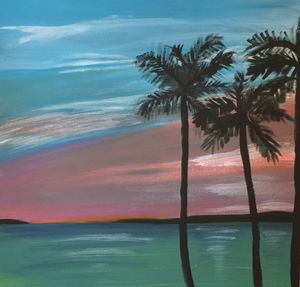 Palms in sunset