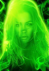 Xbox One: Female in Green Smoke