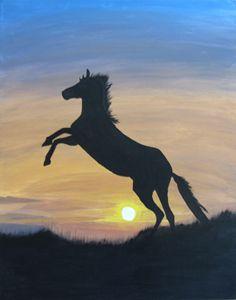 Standing Horse Awaiting Sunrise