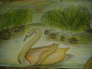 lake of golden Swan