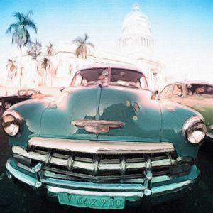 Chevy 1960's Car in Havana Cuba