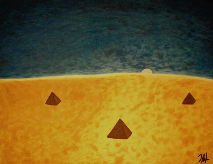 Desert Moonrise - Creative Art Designs by Nicholas Favaza