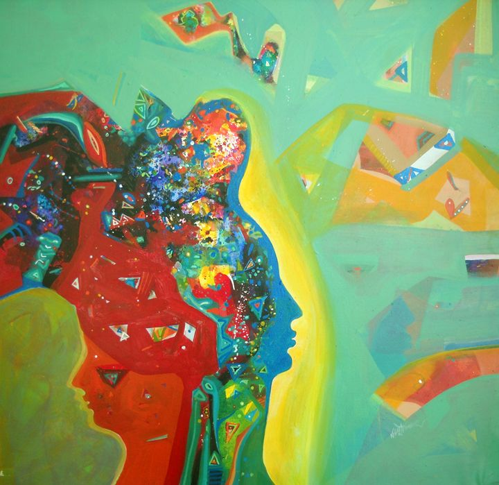 peace - vibrant paintings