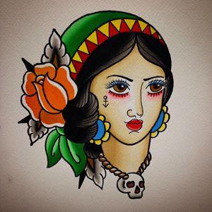 Traditional Gypsy head