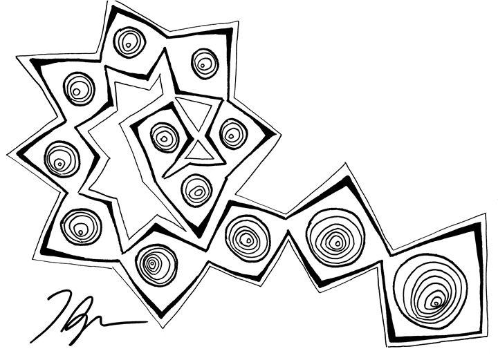 abstract fern 1 - Tamara Spence Art