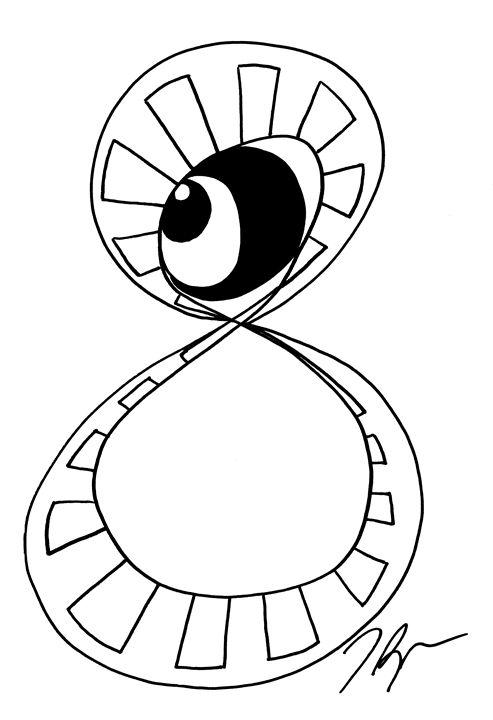 Infinity Black Eye - Tamara Spence Art