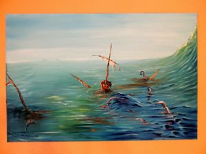 Sunken Deluxe ORIGINAL OIL ON CANVAS
