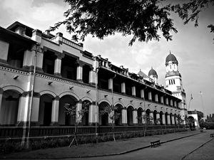 Lawang Sewu old building in mystic