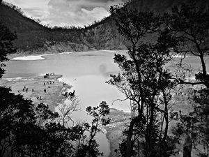beautiful scene from crater Kawah Pu