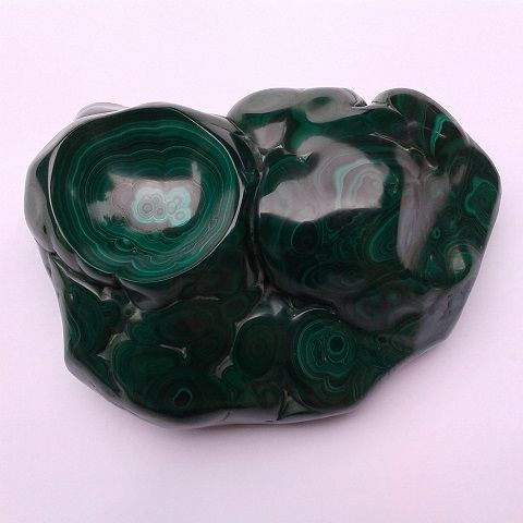 Ashtray in Malachite A002 - Libanga Art by GPG