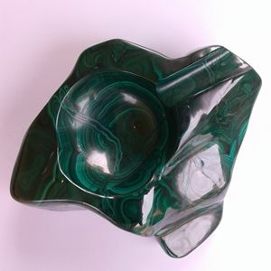 Ashtray in Malachite A001