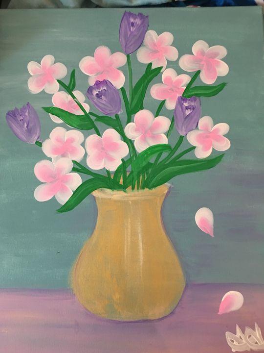 Golden vase - Arts by Ari