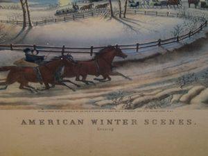 American Winter Scenes Evening