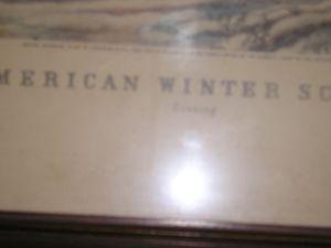 """American Winter Scenes """"Evening"""""""